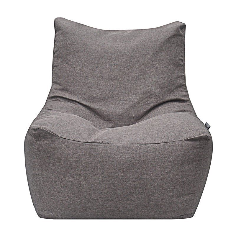 Modern Bean Bag Quicksand Medium Bean Bag Chair Grey Linen