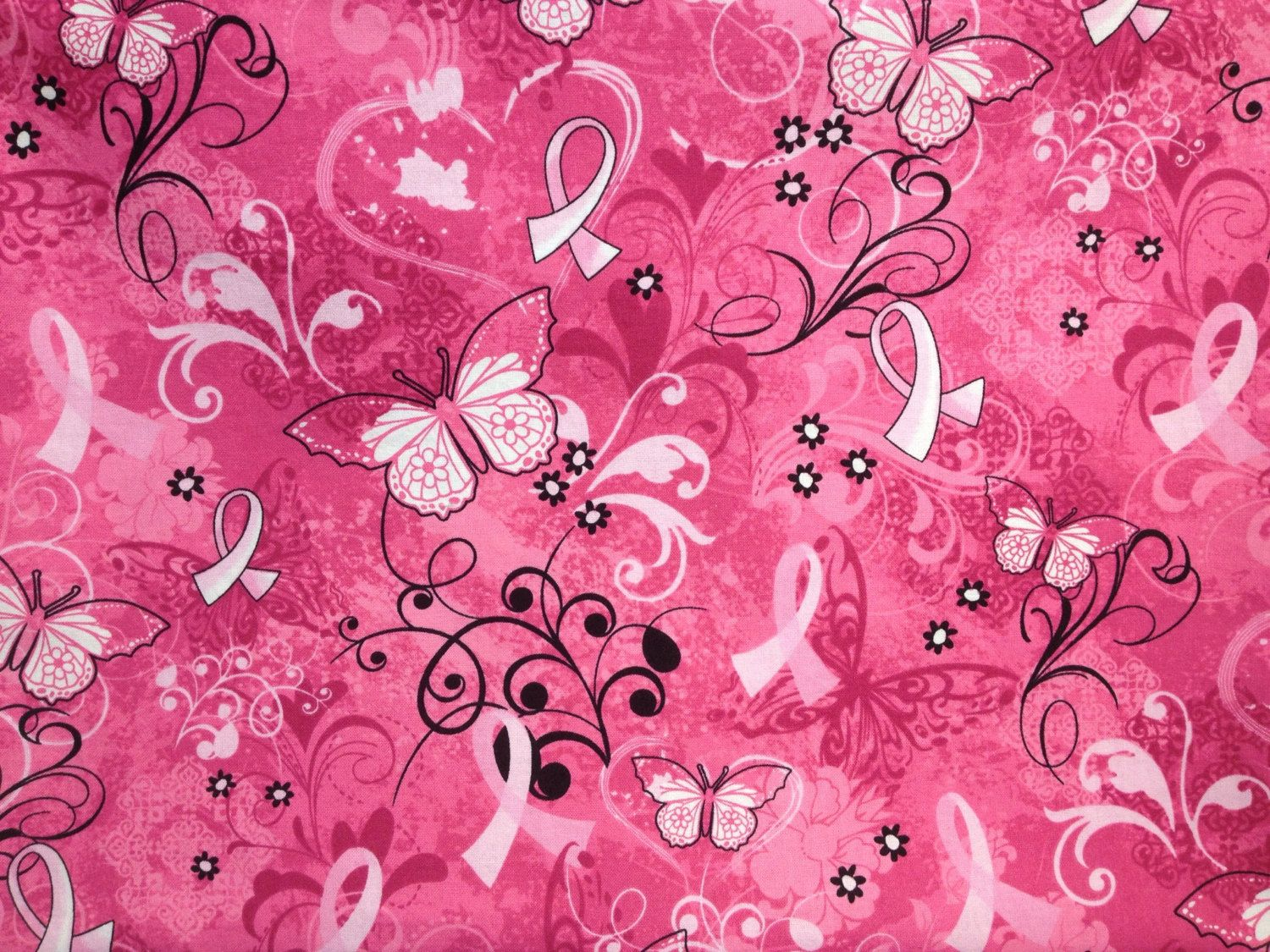 Travel pillow case standard or queen pillow case pink ribbon
