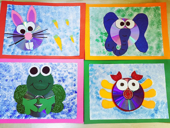 Turn Old Cd S Into Little Animal Crafts With Your Kids You Can Make