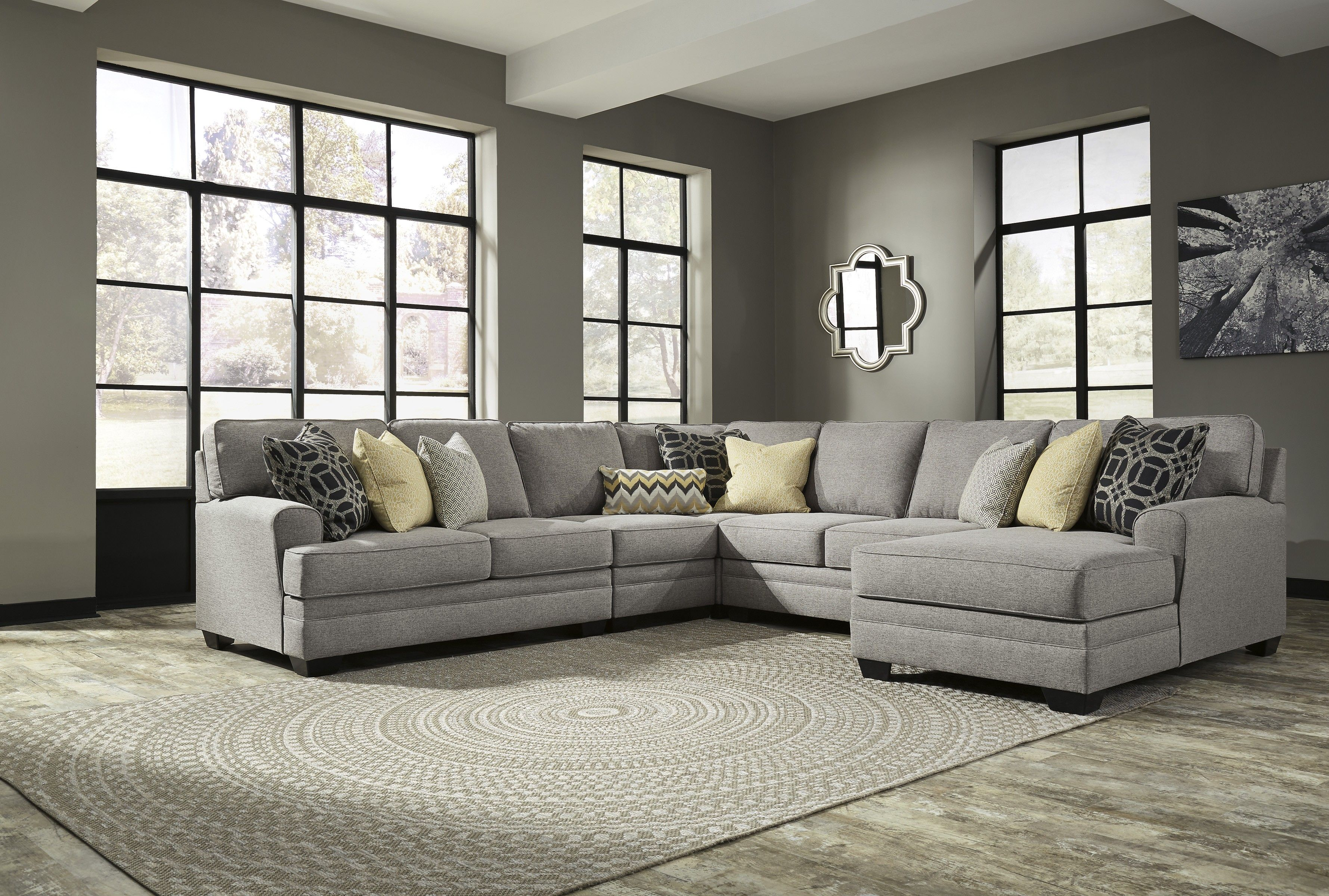 Buy Cresson 5 Piece Sectional Laf Loveseat With Raf Corner Chaise By Benchcraft From Www Mmfurn