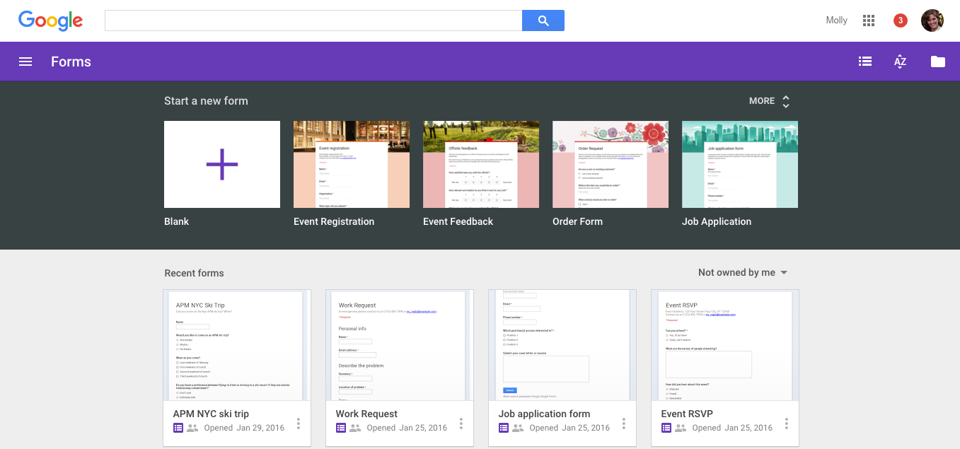 Google Apps update alerts New Google Forms now the
