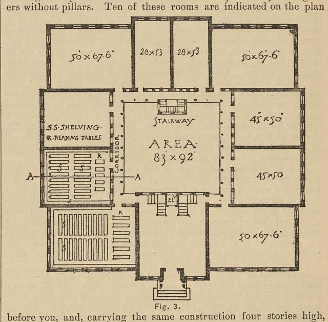 Floor Plan For The Proper Storage Of Books In A Library Library Bookshelves How To Plan Floor Plans