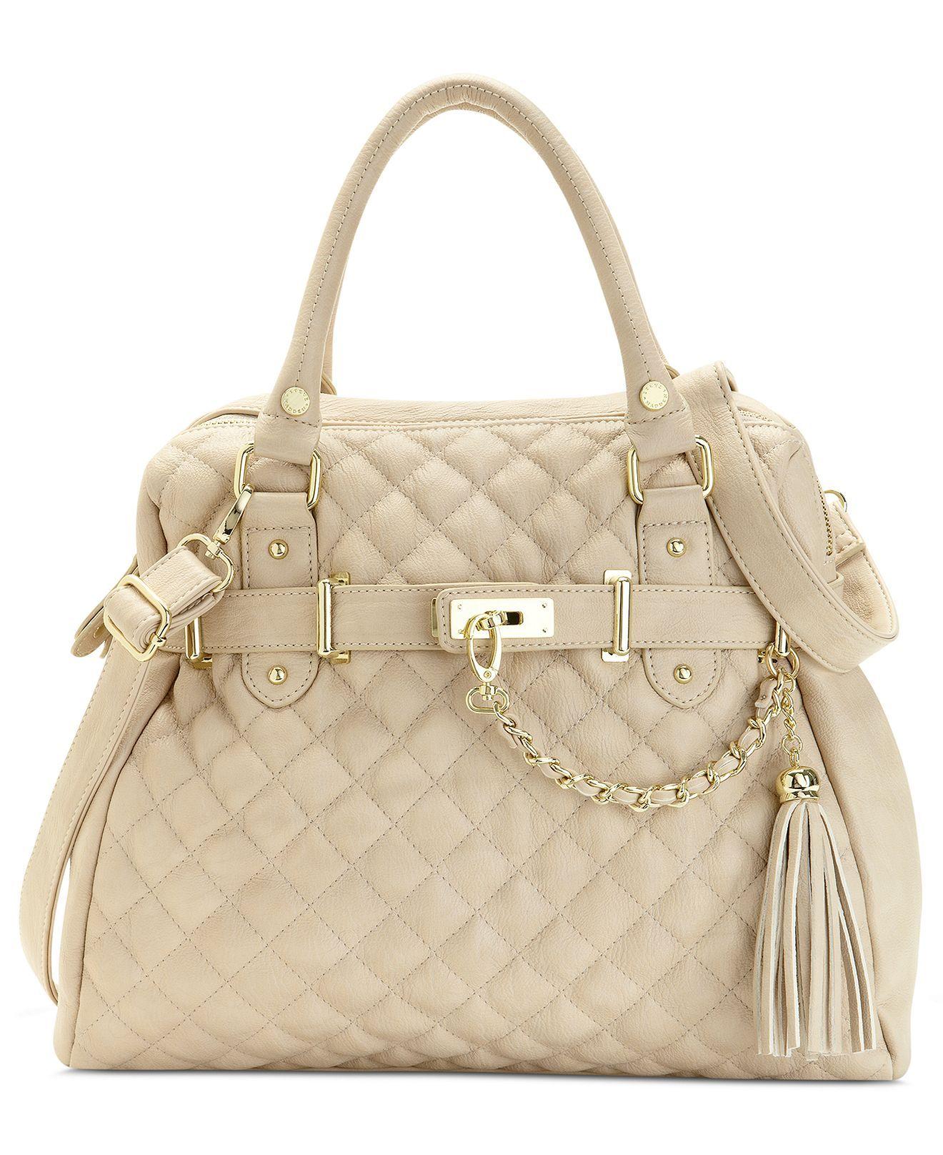 Steve Madden Handbag, Bparker Quilted Satchel - Handbags ...