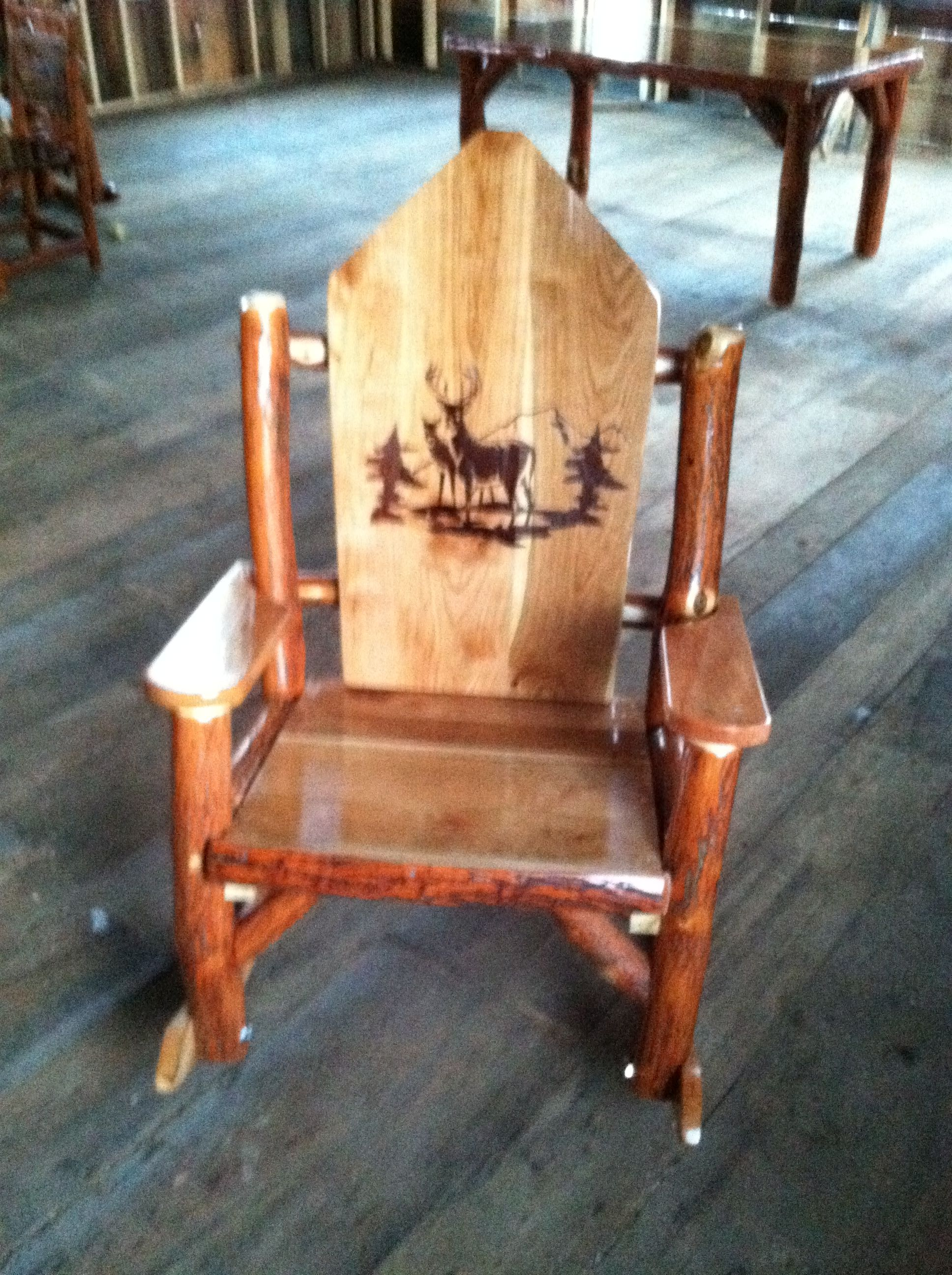 Deer Antler Rocking Chair Windsor Chairs Black Rustic And Stylish This Sassafras Is A