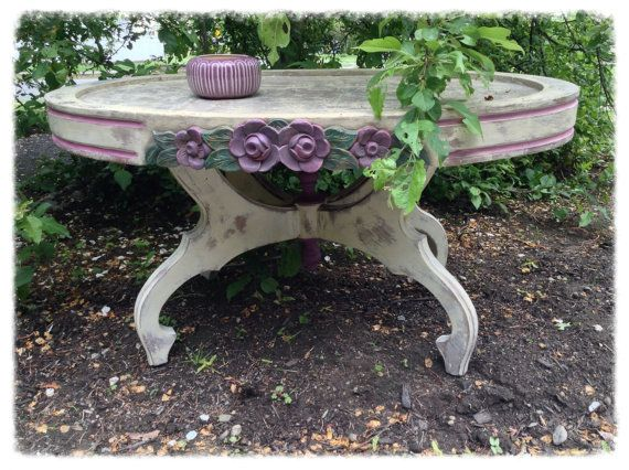 hand painted table french country table shabby chic accent