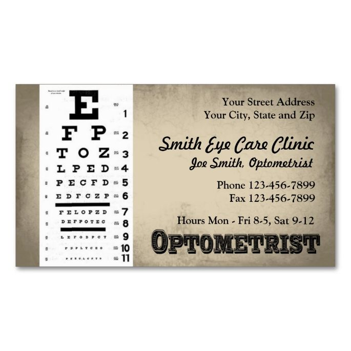 Optometrist business card business cards and business optometrist business card colourmoves