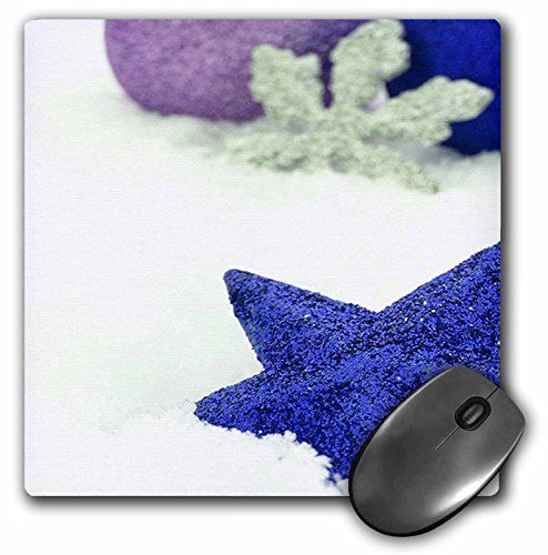 3dRose LLC 8 x 8 x 0.25 Inches Mouse Pad, Blue Christmas Star with Silver Snowflake (mp_77025_1) 3dRose http://www.amazon.com/dp/B00A8PNMN4/ref=cm_sw_r_pi_dp_wTsdxb17BE2QF