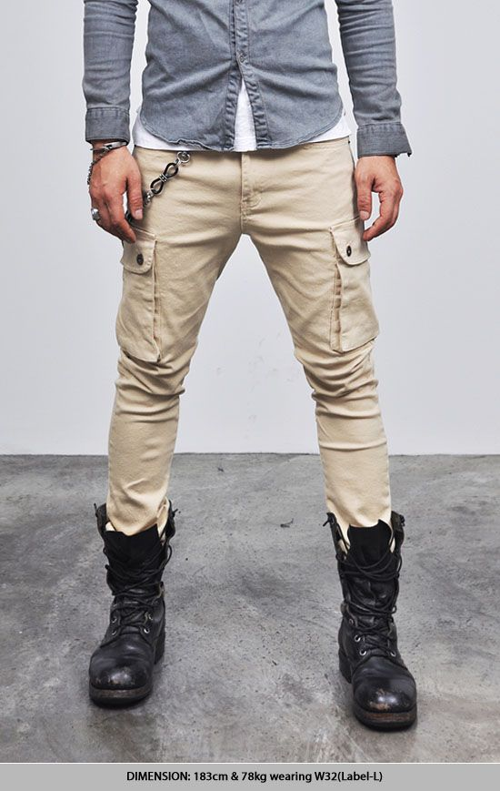 Bottoms :: Pants :: Hip Spandex Skinny Baggy Cargo-Pants 55 - Mens ...