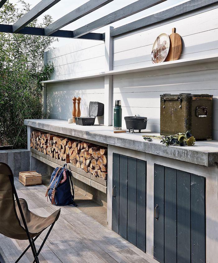▷ 1001 + Ideen und Bilder zum Thema Außenküche selber bauen #rustickitchens