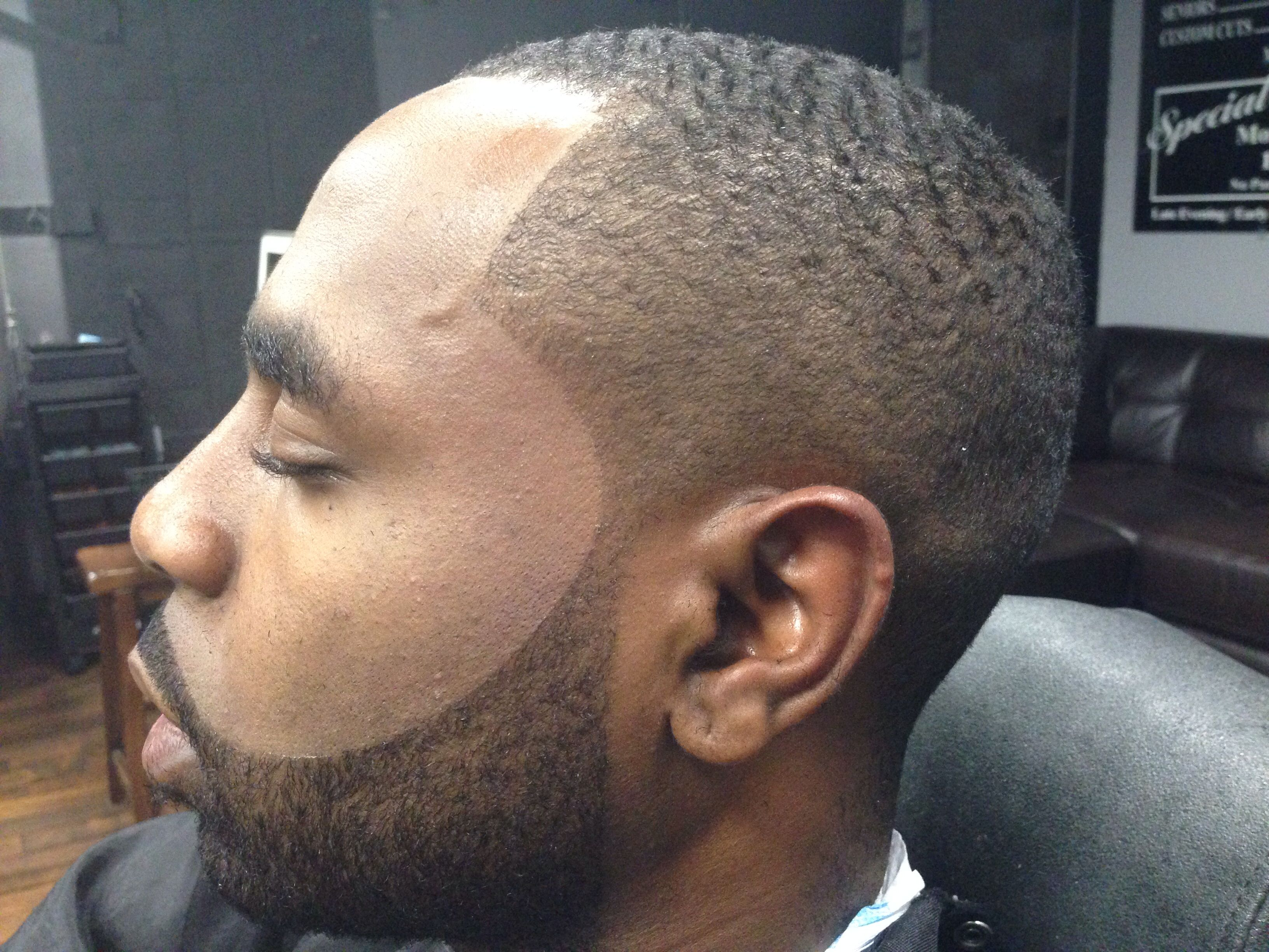 Dark Caesar Haircut Black Men Dark Caesar Haircut Designs