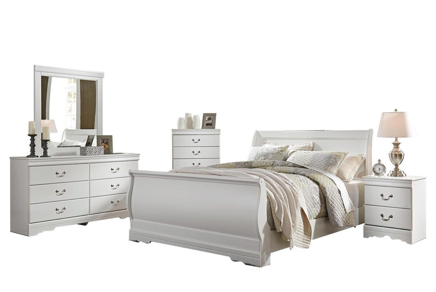 Best Ashley Anarasia 5Pc Queen Sleigh Bedroom Set With Chest In 640 x 480