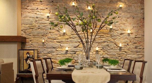 Wundervoll Wandgestaltung Mit Kerzen Für Natursteinwand