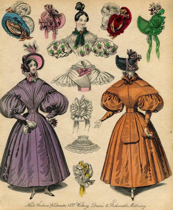 1830s Fashion Plate Regency Victorian Fashion Plates Industrial Revolution Fashion Fashion History