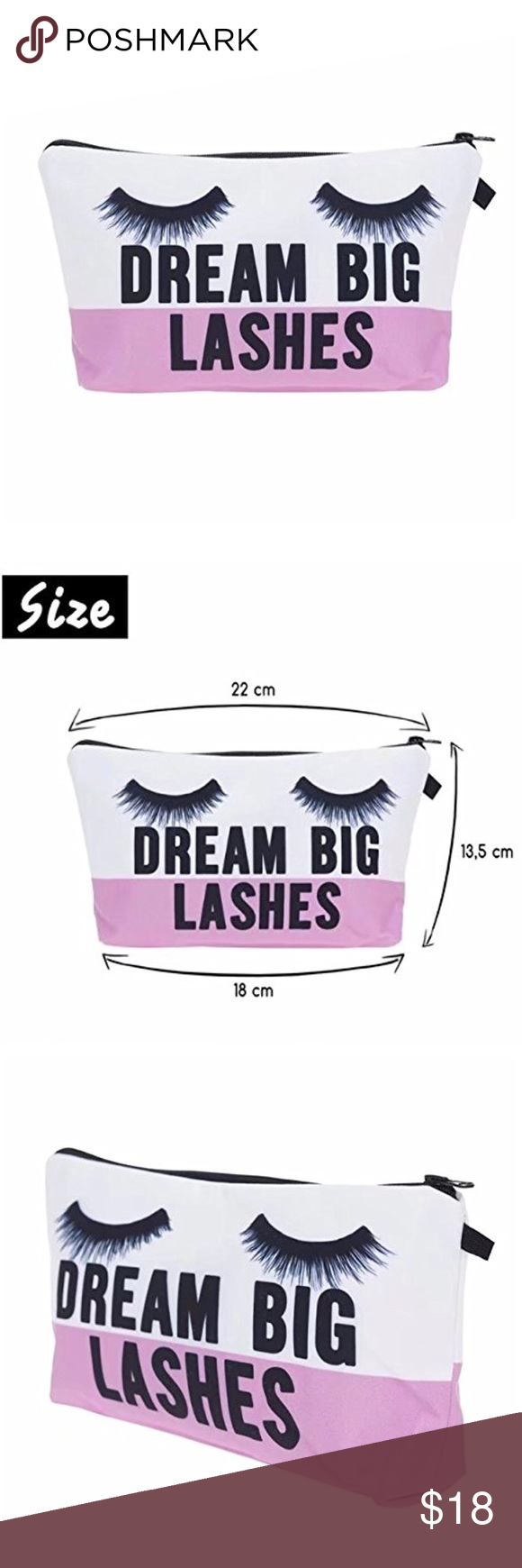 Dream Big Lashes Mini Makeup Bag Boutique Clothes Design Fashion Design Mini Makeup Bag