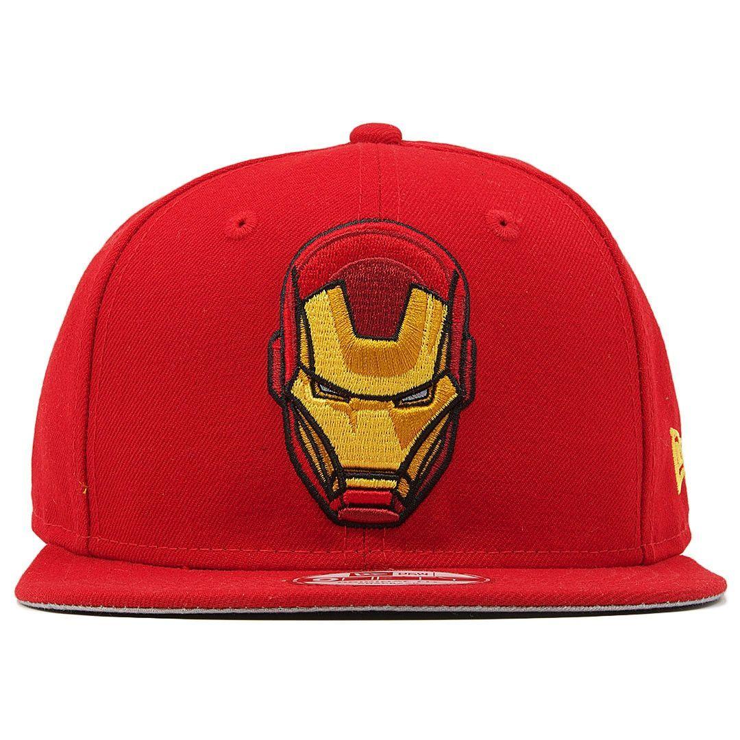 newest afdc7 f0482 Invincible Iron Man Retro Marvel Comics Solid Red Custom 950 Snapback Hat