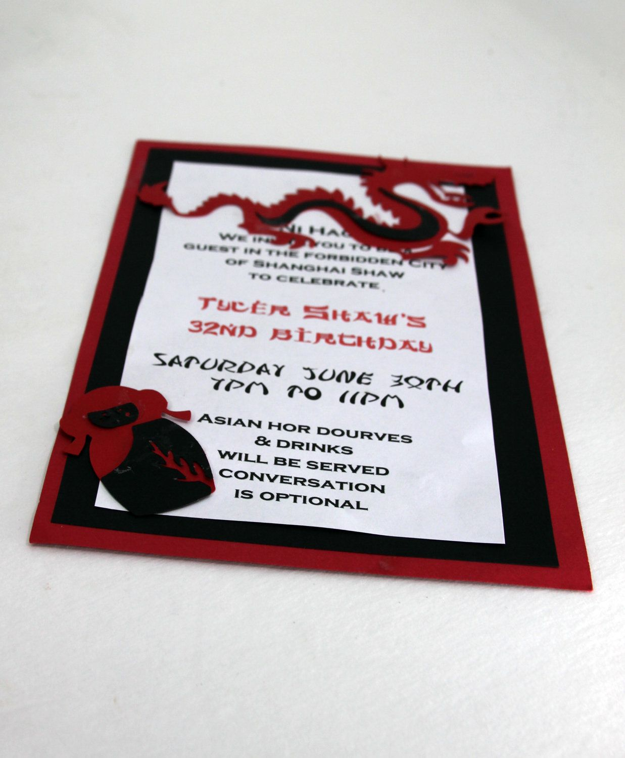 Good Luck Asian Chinese New Year Party Invitations by ShiatsuBunny ...