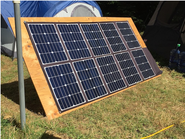 One Family Uses One 300 Watt High Efficiency Lightweight Fold Up Solar Panel To Assist With Power Generation For Long Portable Solar Power Solar Panels Solar