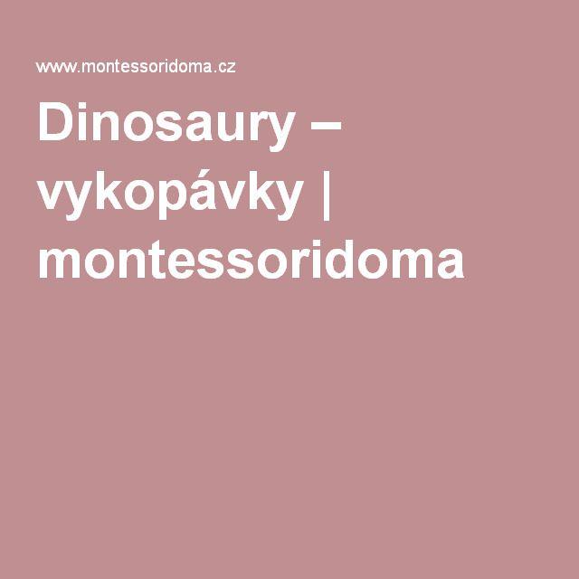 Dinosaury – vykopávky | montessoridoma
