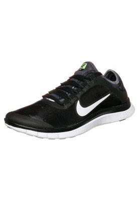 nike sportswear free 3.0 - trainers - black/white-volt