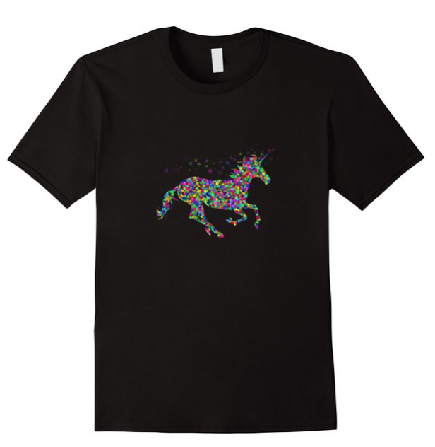 Super cute unicorn graphic tee! Available for sale on Amazon!!: https://www.amazon.com/dp/B01BOQ97TS Available in Men's, Women's, & Youth Sizes
