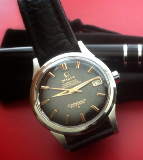 27b52f72372 Brilliant Vintage OMEGA Constellation Calendar Calibre 504 In Stainless  Steel Circa 1950s