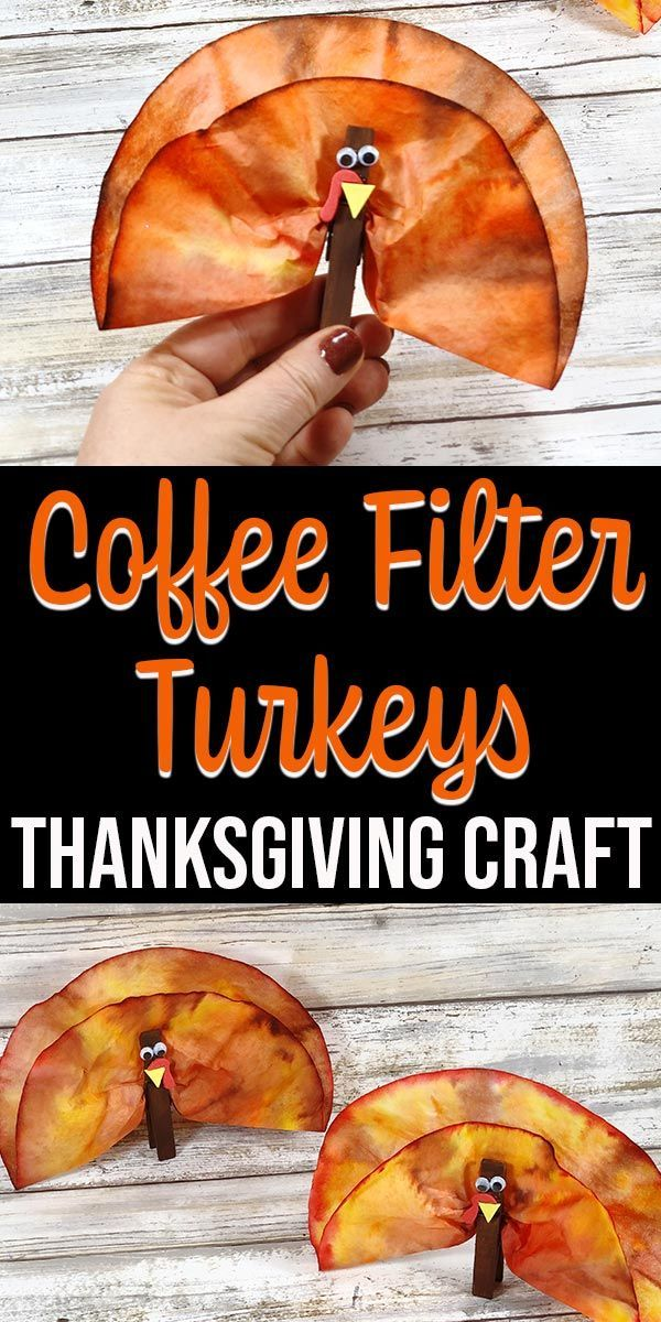 Kaffeefilter Truthähne Thanksgiving Craft für Kinder