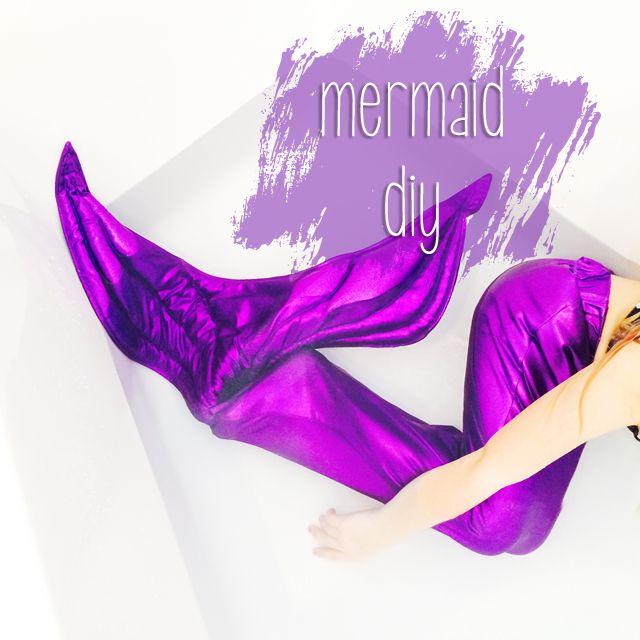 little mermaid | DIY - Merrjungfrau Schwanzflosse nähen | Fasching ...