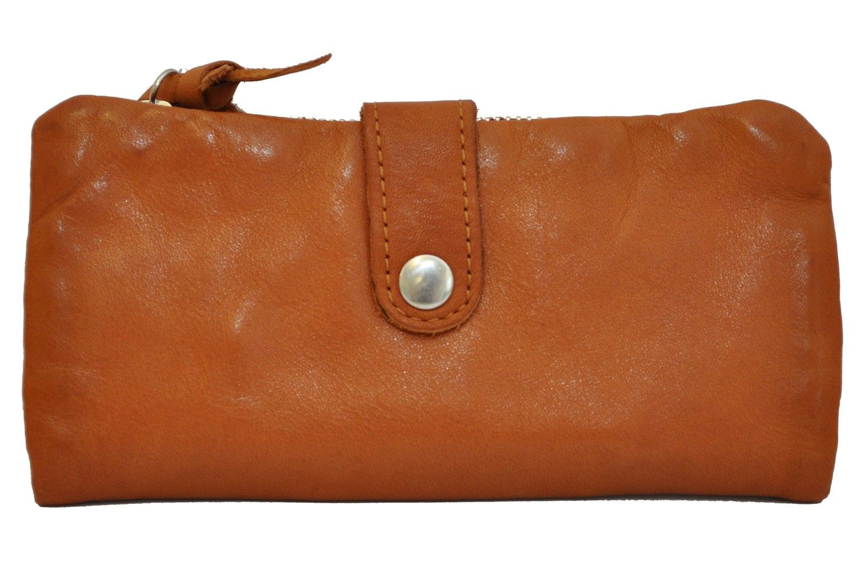 Cowboysbag Purse Hinkley 1253, Portemonnaie, Geldbörse aus echtem Leder, Cognac, 18,5x9x2 cm (B x H x T) Leder Geldbörsen