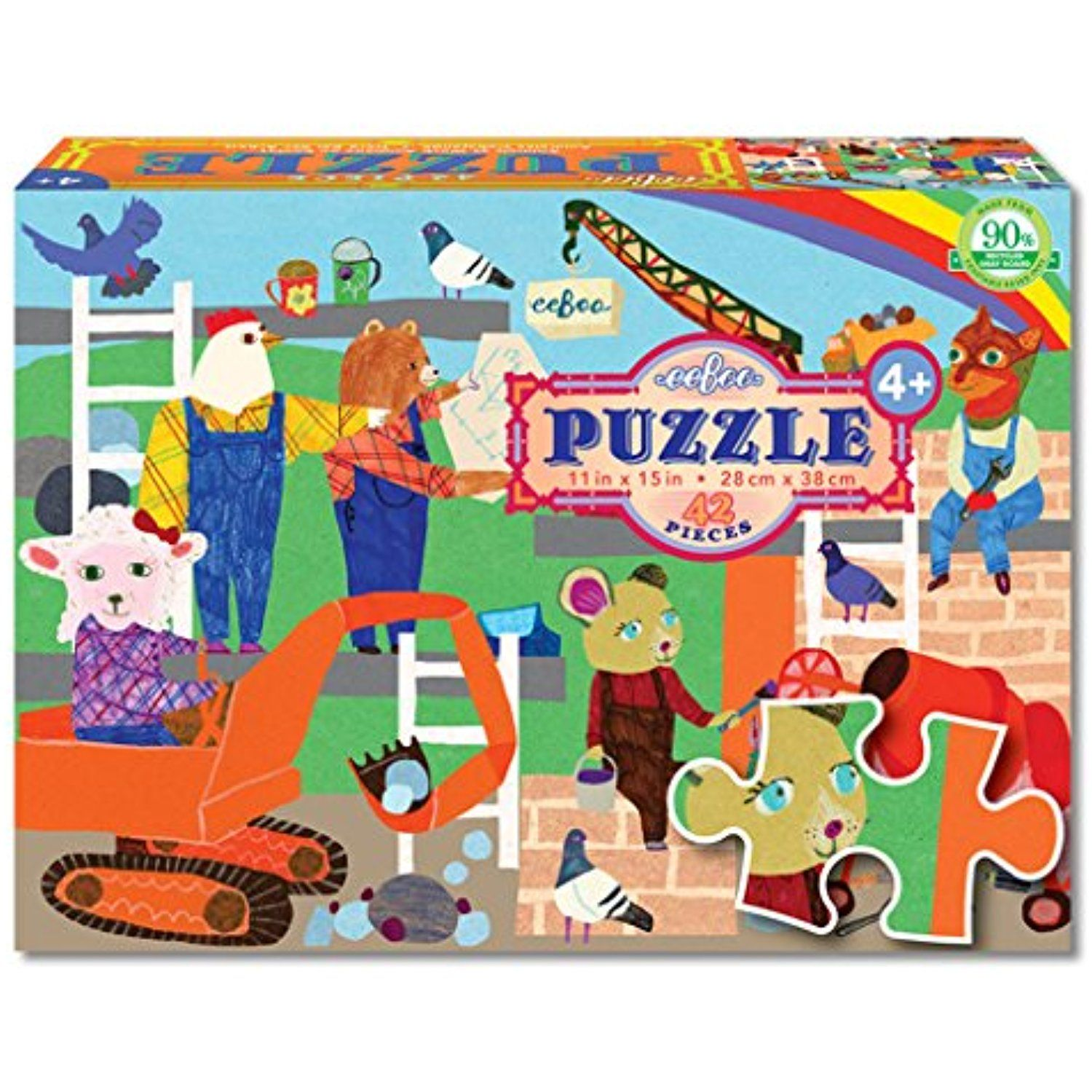 eeBoo Animals at Work Puzzle, 42 pieces >>> Check out the