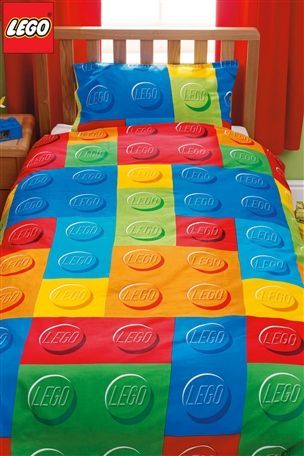New lego bricks single bed duvet quilt cover kids bedroom bedlinen ...