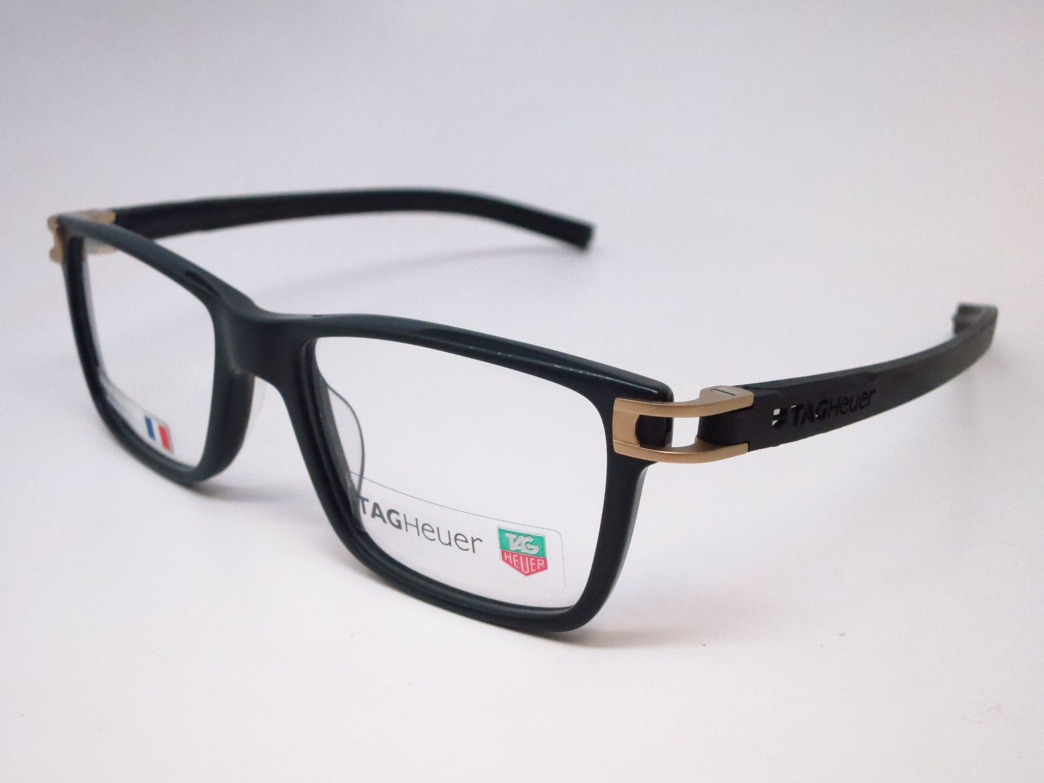 Tag heuer eyeglasses frames uk - Tag Heuer Th 7603 008 Black Track S Acetate Eyeglasses