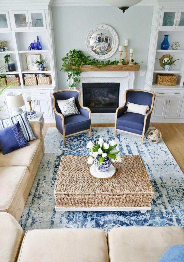 45 Gorgeous Coastal Living Room Decorating Ideas Home Decoration Decoratingideas Gorgeou Blue And White Living Room White Family Rooms Coastal Living Room Style living room decorating ideas