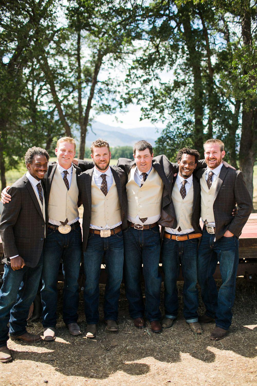 Rustic California Ranch Wedding Rustic wedding groomsmen