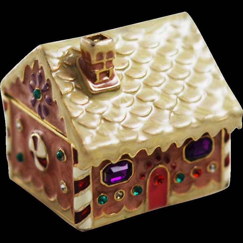 fefe8d2c2 Monet Gingerbread House Trinket Box Holiday   Ruby Lane Shops Picks ...