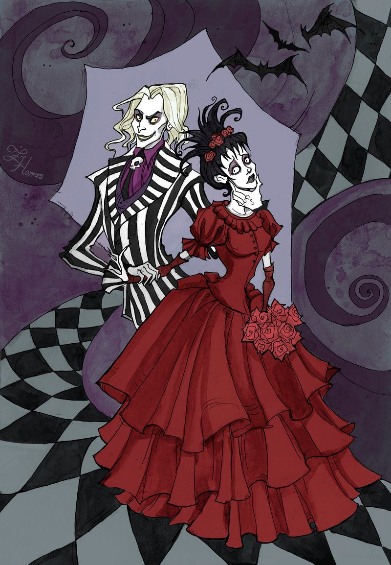 Beetlejuice And Lydia By Irenhorrors On Deviantart Tim Burton