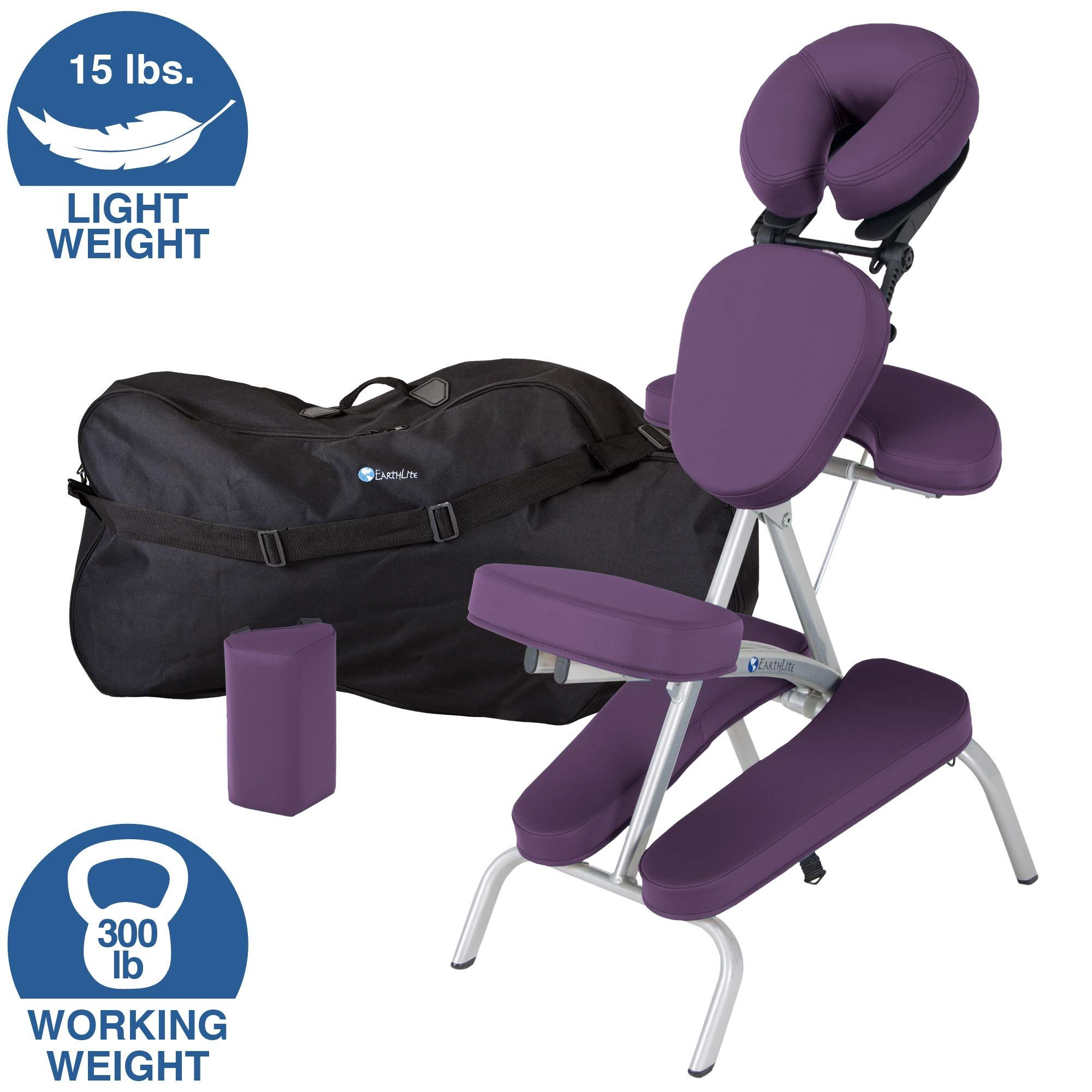 Earthlite Portable Massage Chair Package Vortex Portable Compact Strong And Lightweight Incl Carry Case Sternum Pad Am Massage Chair Massage Feet Roller