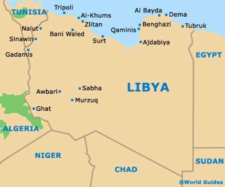 map of libya with cities Google Search MAPS Pinterest North