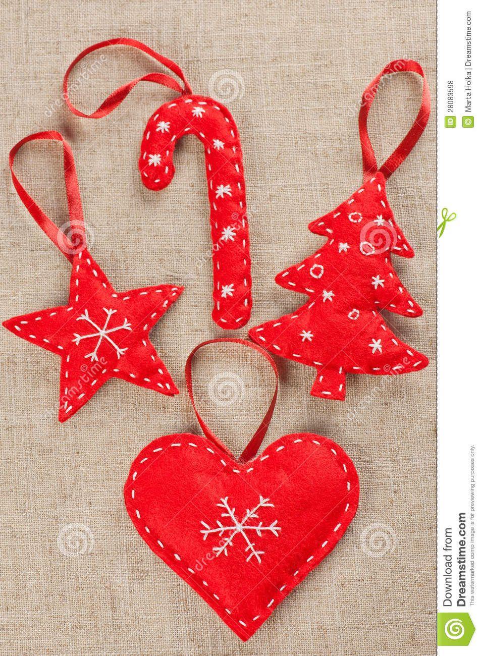 Immagini Natalizie Libere.Decorazioni Di Natale Del Feltro Fotografie Stock Libere Da Diritti Immagine 28083598 Natale Artigianato Ornamenti In Feltro Decorazioni Di Natale