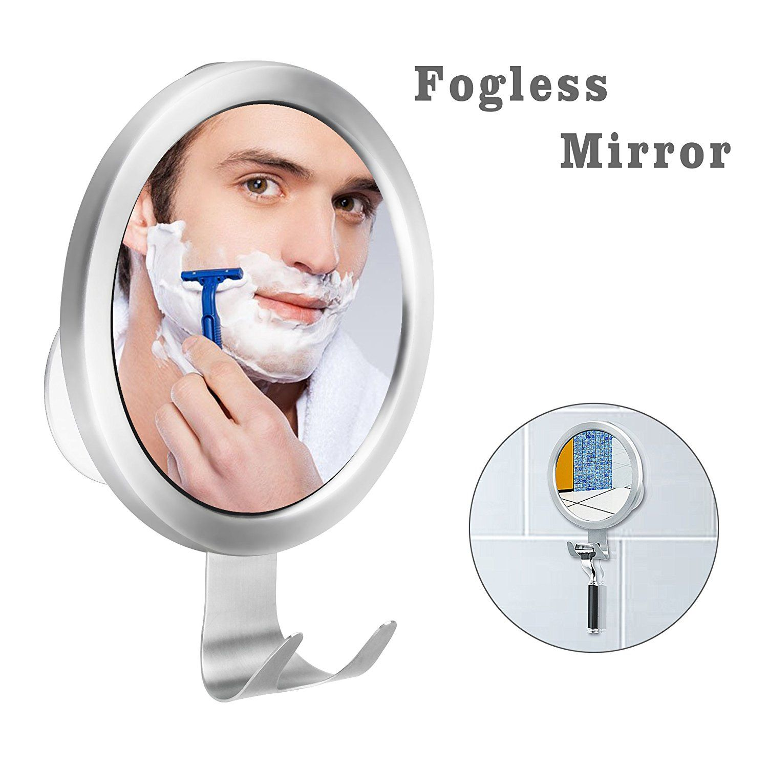 Fogless Shaving Mirror BUDGET and GOOD Strong Suction