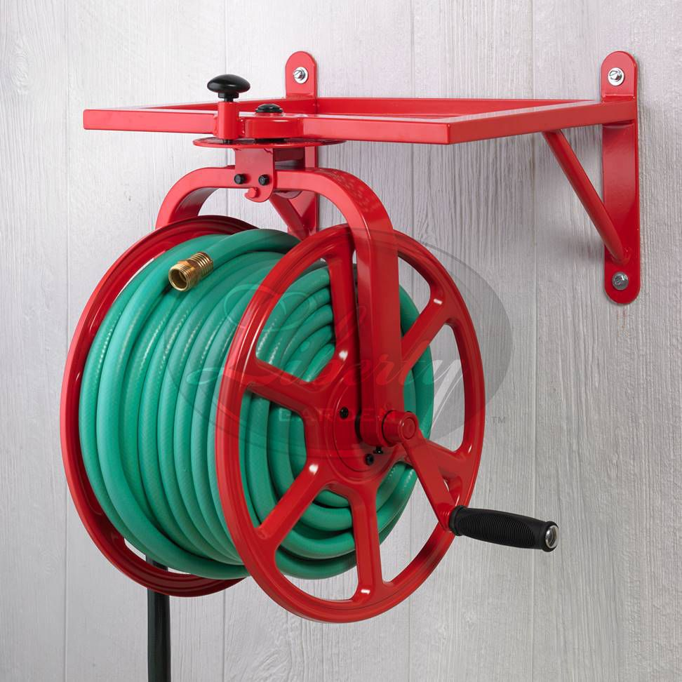 liberty garden 713 revolution multi directional hose reel red liberty revolution multi directional hose reel holds of hose with of leader hose