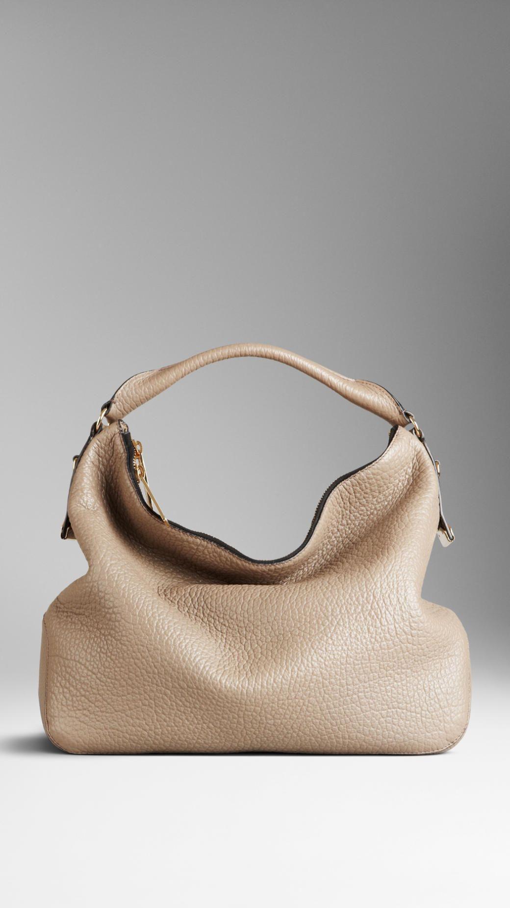 Burberry Medium Heritage Grain Leather Hobo Bag Hobo Bag Leather Hobo Bags Burberry Bag