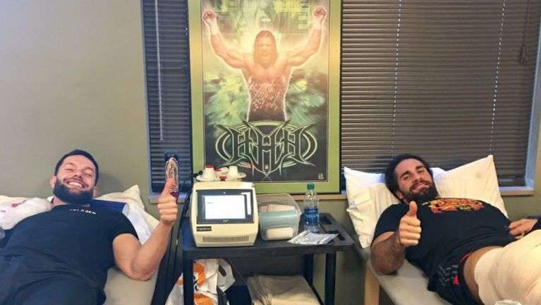 Balor and Rollins wish fans a Happy Valentine's Day from rehab