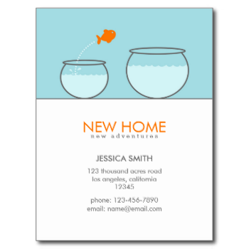 Cute Fish New Home Funny Postcards Zazzle Com In 2020 Moving Announcements Moving Announcement Postcard Cute Fish