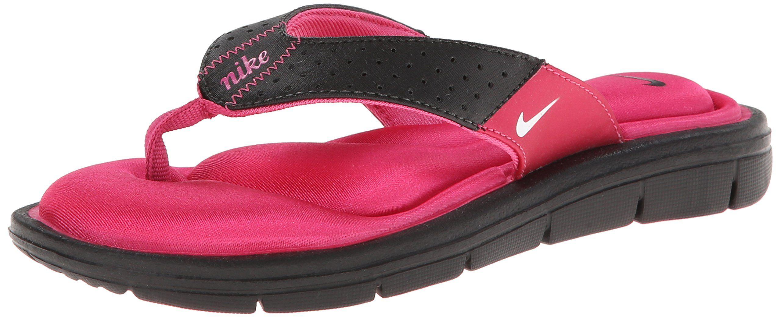 e56de10941f87d Nike Womens Comfort Thong Sandal Black Pink White Size 8