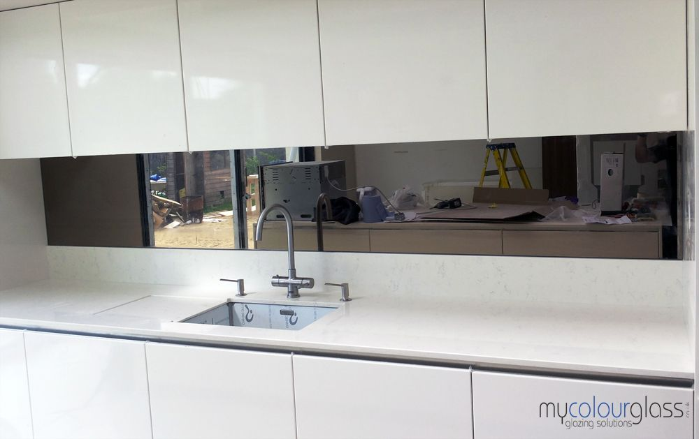 Silver Tinted Mirror Splash Back Google Search