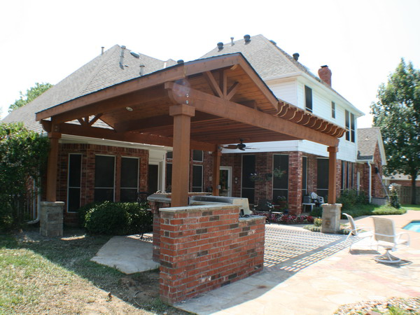 Covered Pergola Designs Worth Covered Patio Attached