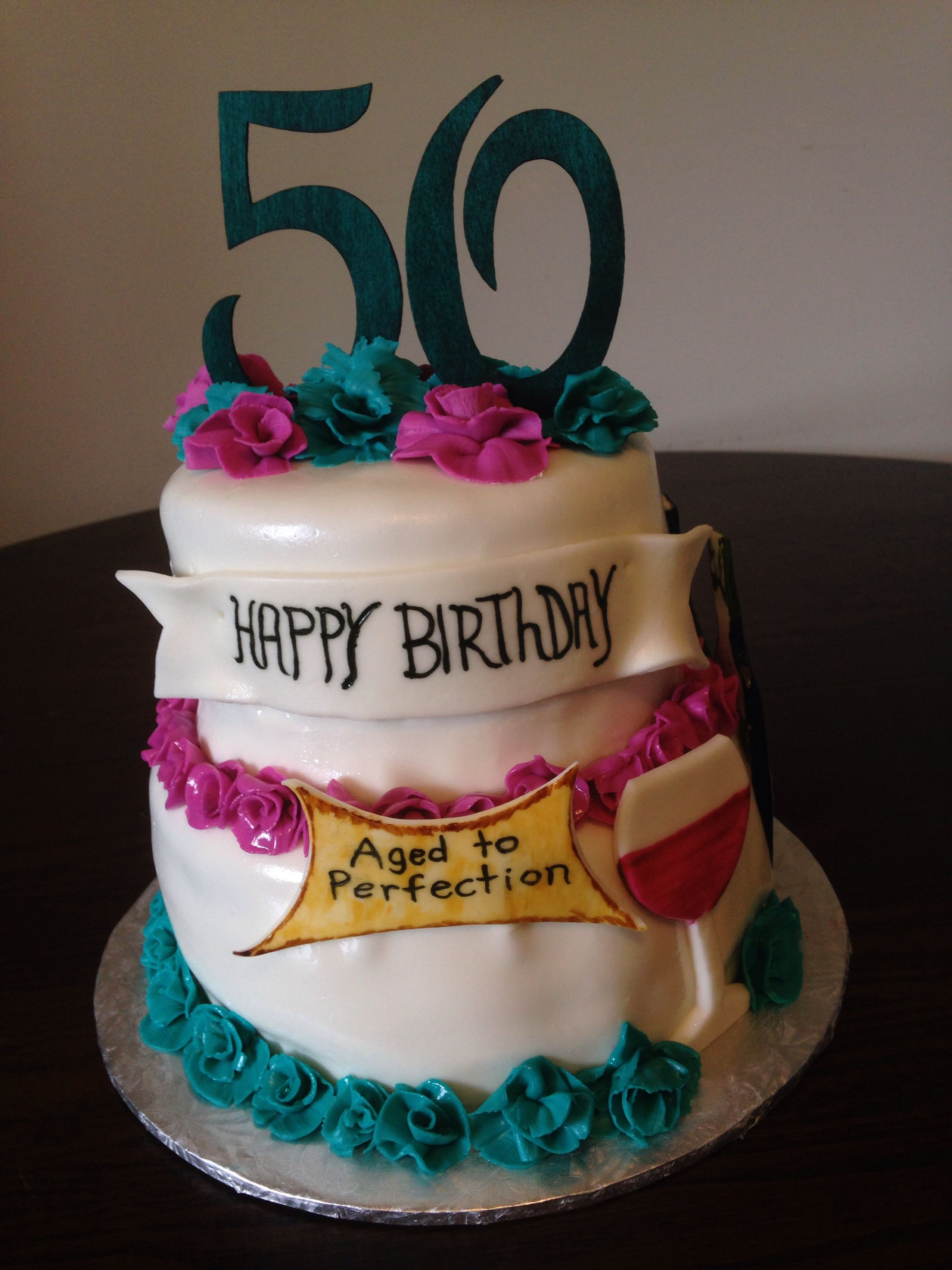 Fabulous Wine Cake 50 Th Birthday 50Th Birthday Cake 50Th Birthday Cake Birthday Cards Printable Nowaargucafe Filternl