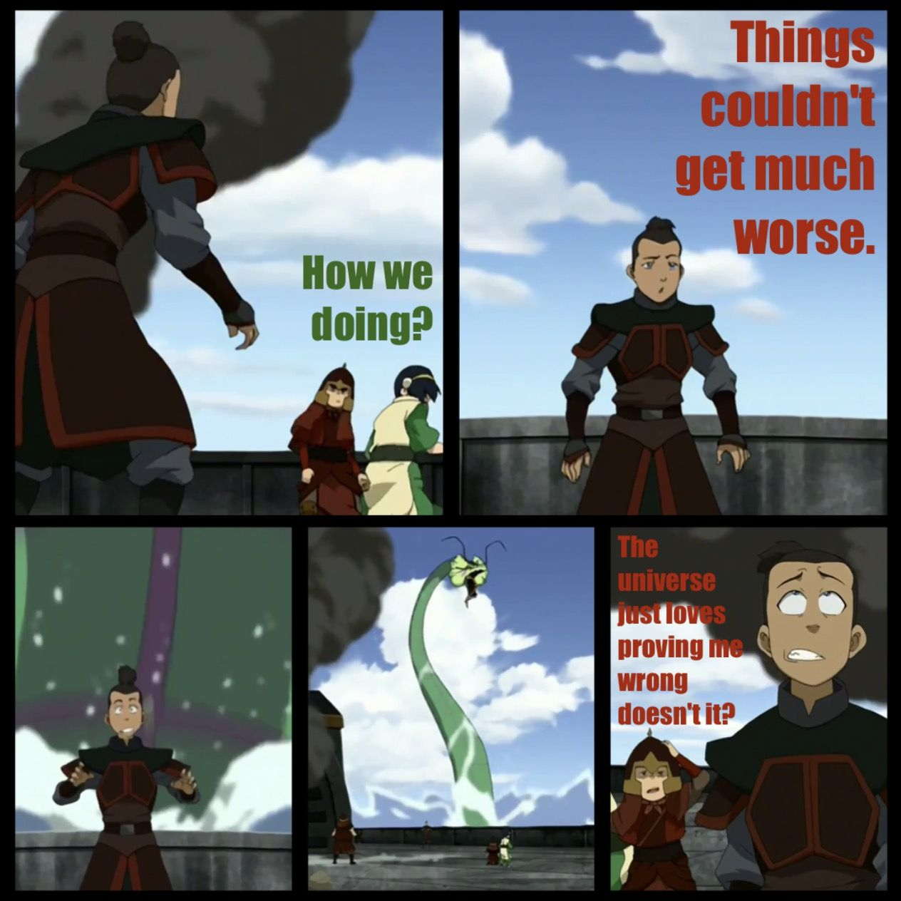 Avatar the last airbender. Another great scene