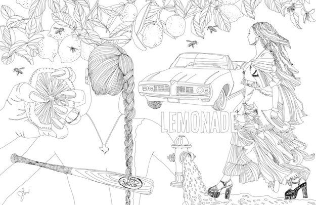 this illustrator turned beyoncs lemonade into a coloring book and omg - Beyonce Coloring Book
