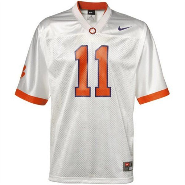promo code c34ba 6325f Nike Clemson Tigers #11 Replica Football Jersey-White ...